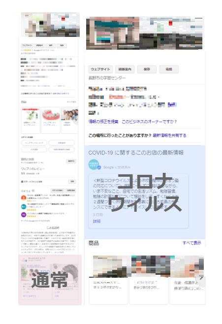 Googleマイビジネス記事投稿表示位置