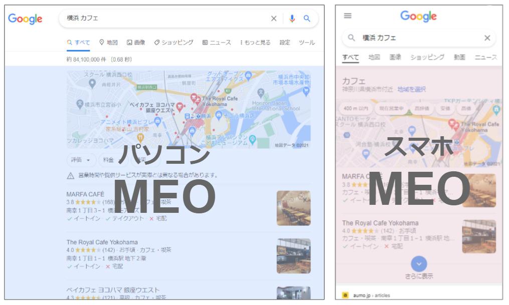 検索結果表示方法