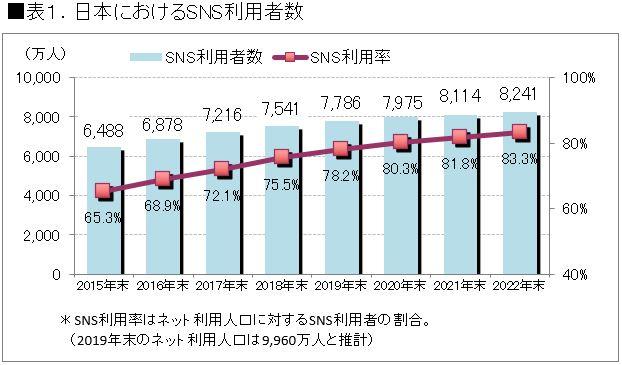 SNS利用率グラフ