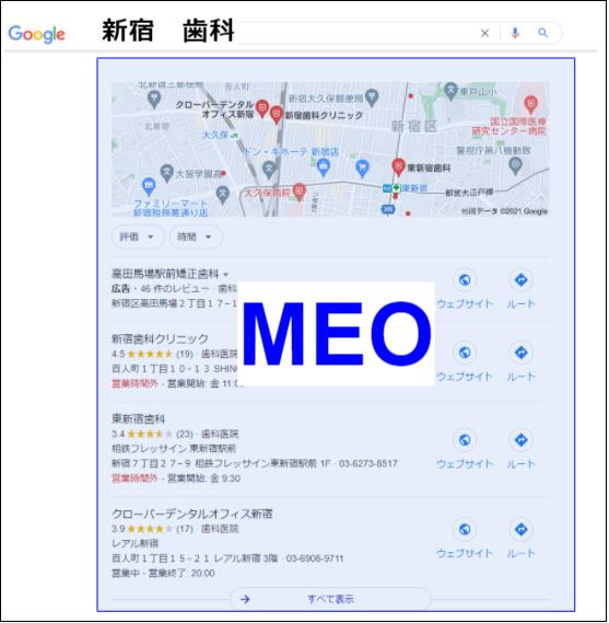 MEO表示方法